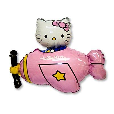Шар фигура Hello Kitty самолет розовый 1207-1650