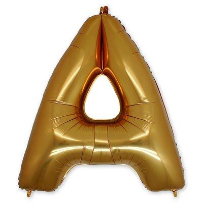 "Шар-фигура буква А 40"" Gold 1207-1651"