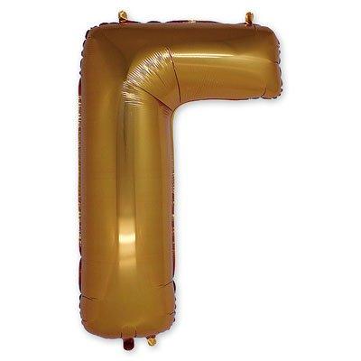 """Шар-фигура буква Г 40"""" Gold 1207-1662"""