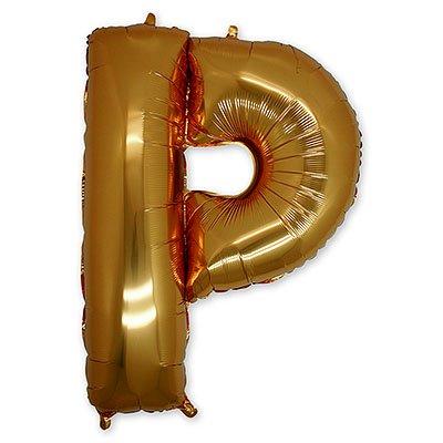 """Шар-фигура буква Р 40"""" Gold 1207-1666"""