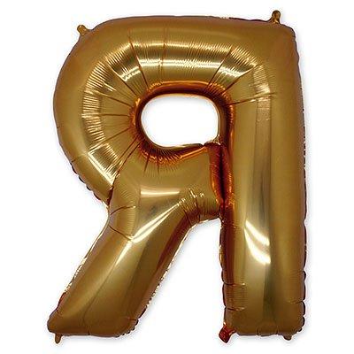 "Шар-фигура буква Я 40"" Gold 1207-1668"