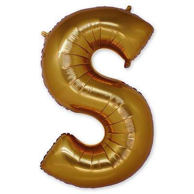 """Шар-фигура буква S 40"""" Gold 1207-1669"""