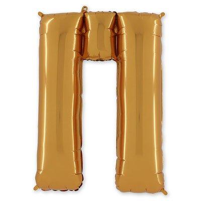 "Шар-фигура буква П 40"" Gold 1207-1679"