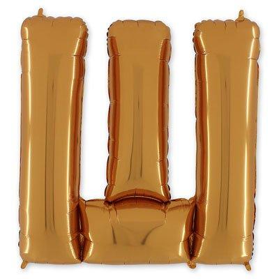"""Шар-фигура буква Ш 40"""" Gold 1207-1681"""