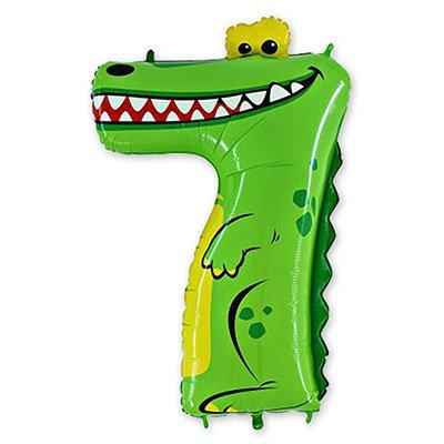 "Шар цифра 7 36"" Крокодил 1207-1689"