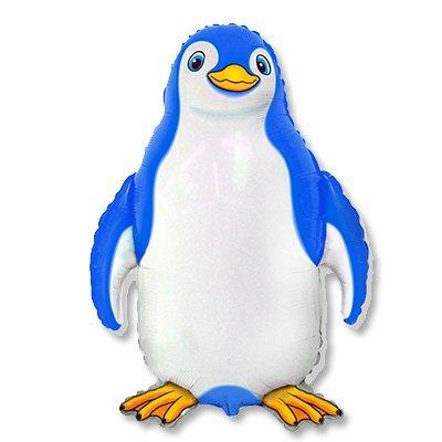 Шар фигура Счастливый пингвин синий 1207-1842