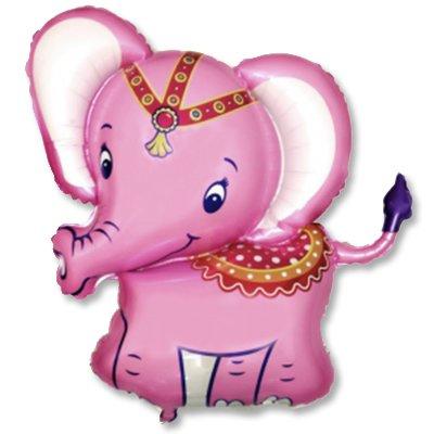 Шар фигура Слоник розовый 1207-1880