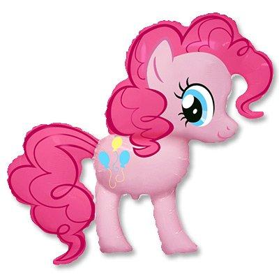 Шар фигура Пони розовая 1207-1898