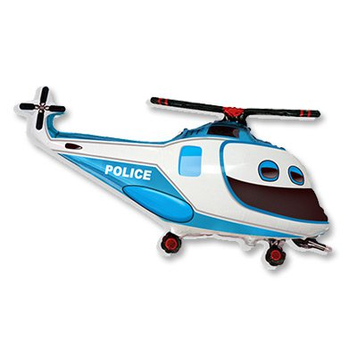 Шар фигура Вертолет Полиция 1207-1961