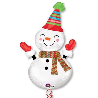 Шар-фигура Снеговик улыбчивый, 91см 1207-2034