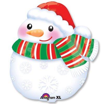 Шар фигура Снеговик в шарфе 1207-2045