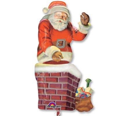 Шар-фигура Санта в трубе 1207-2056
