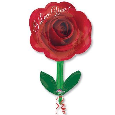 Шар фигура ILY Роза со стеблем 1207-2112