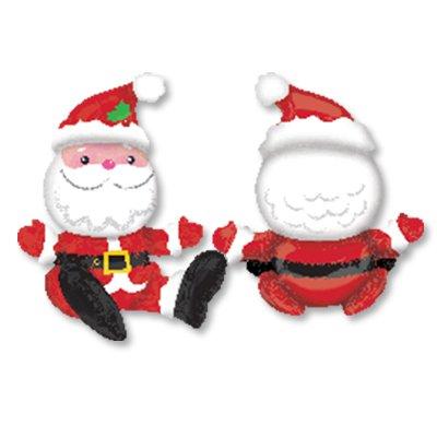 Шар фигура Санта сидящий 1207-2706