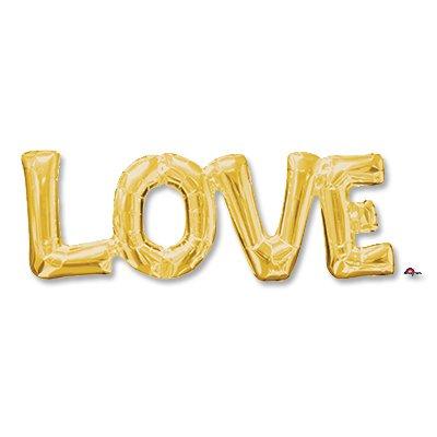 Шар надпись LOVE золото 1207-2746