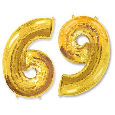 "Шар-цифра Ф 6/9 40"" Gold 1207-2832"