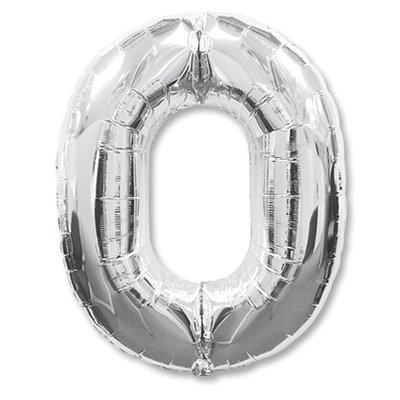 "Шар-цифра Ф 0 40"" Silver 1207-3062"