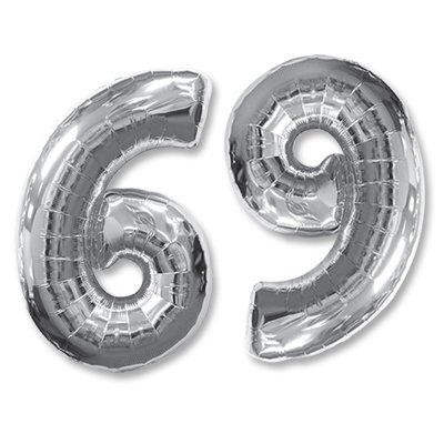 "Шар-цифра Ф 6/9 40"" Silver 1207-3068"