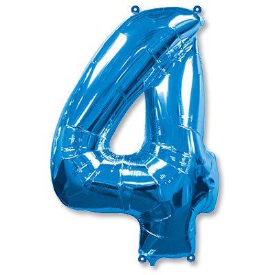 "Шар-цифра Ф 4 40"" Blue 1207-3075"