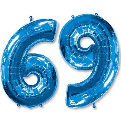 "Шар-цифра Ф 6/9 40"" Blue 1207-3077"