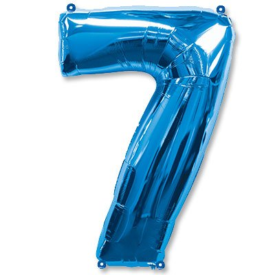 "Шар-цифра Ф 7 40"" Blue 1207-3078"