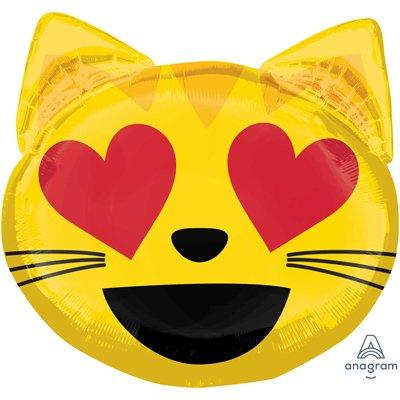 Шар фигура Эмоции Смайл Кошка влюбленная 1207-3136