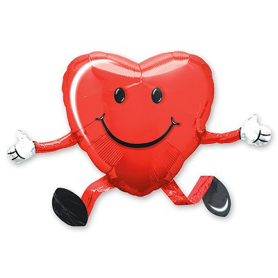 Шар ходячий сердце 1208-0002