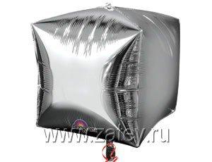 "А 3D КУБ 15"" Б/РИС Металлик Silver 1209-0034"