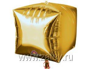 "А 3D КУБ 15"" Б/РИС Металлик Gold 1209-0035"