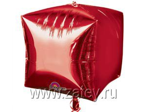 "А 3D КУБ 15"" Б/РИС Металлик Red 1209-0036"