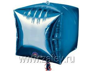 "А 3D КУБ 15"" Б/РИС Металлик Blue 1209-0037"