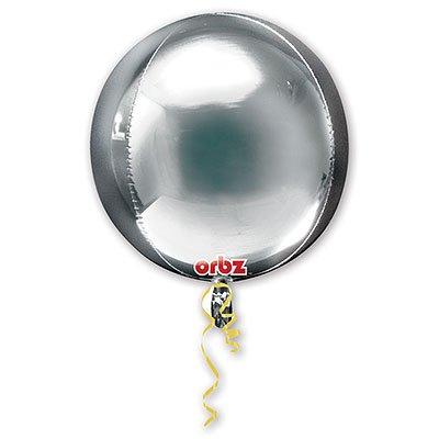 "Шар 3D СФЕРА без рис 16"" Металлик Silver 1209-0038"
