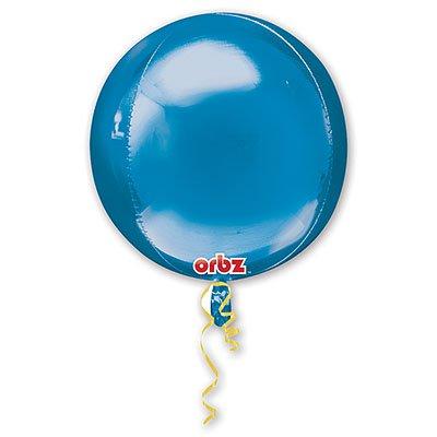 "Шар 3D СФЕРА без рис 16"" Металлик Blue 1209-0040"