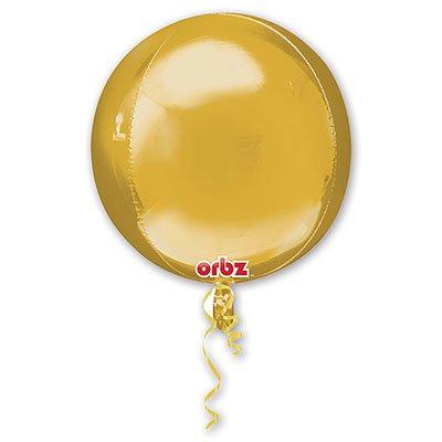 "Шар 3D СФЕРА без рис 16"" Металлик Gold 1209-0041"