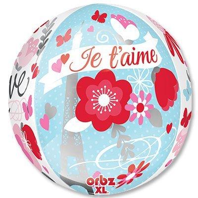 "Шар 3D СФЕРА 16"" LOVE Встреча в Париже 1209-0142"