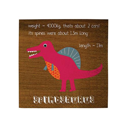 """Салфетки """"Динозавры"""", маленькие 124003"""