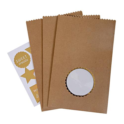 Подарочные пакеты для угощений со стикерами 125380