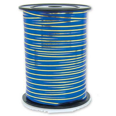 Лента с золотой полосой синяя 1302-0130