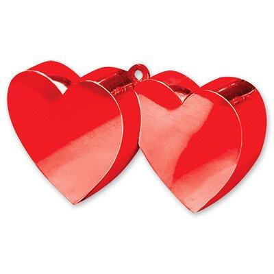 Грузик для шаров Два сердца, красный 1302-0242