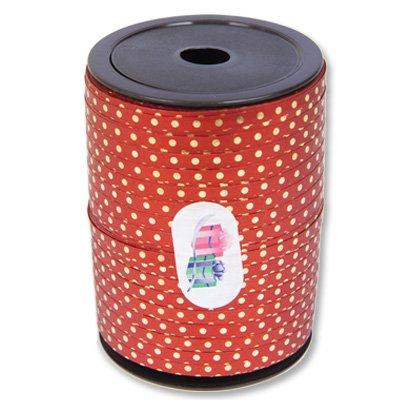 Лента голограф 5 мм красная Горошек 1302-0549