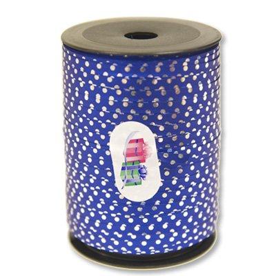 Лента голографическая 5 мм синяя Горошек 1302-0550