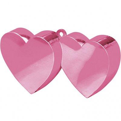 Грузик для шаров Два сердца, розовый 1302-0851