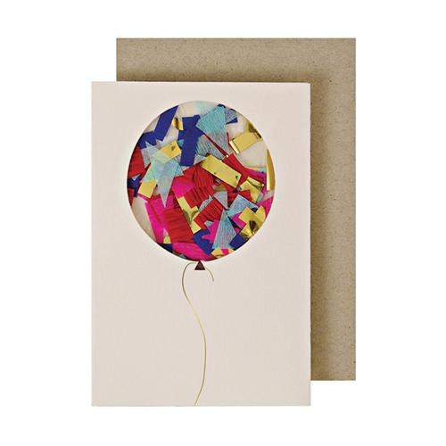 "Открытка ""Воздушный шар с конфетти"""