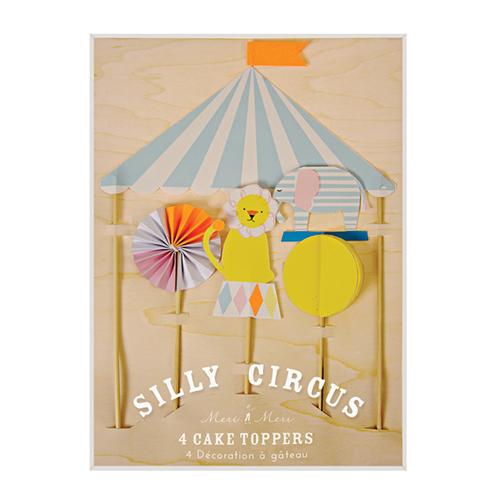 """Топперы для торта """"Цирк"""", 4 шт. 132859"""