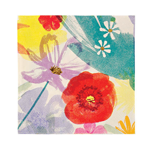 """Салфетки """"Акварельные цветы"""", маленькие 133165"""