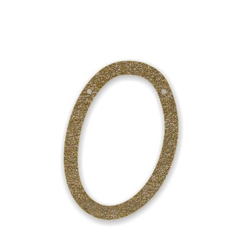 """Акриловая подвеска для растяжки """"Ноль"""", мерцающее золото 135586"""