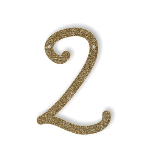 Акриловая подвеска для растяжки 2, мерцающее золото 135622