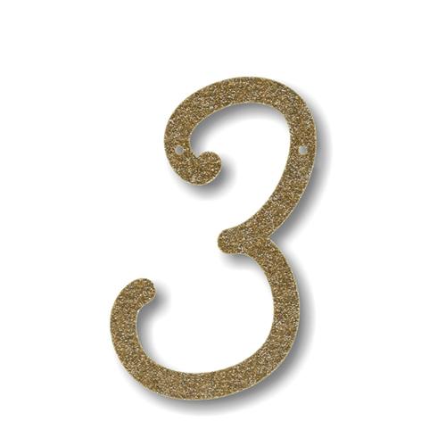 Акриловая подвеска для растяжки 3, мерцающее золото 135640