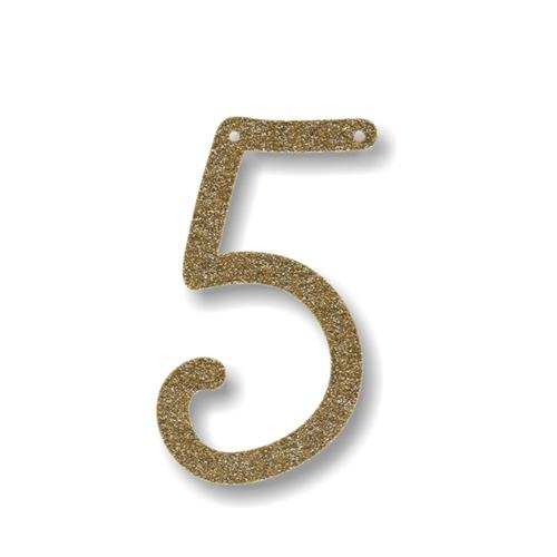 Акриловая подвеска для растяжки 5, мерцающее золото 135676