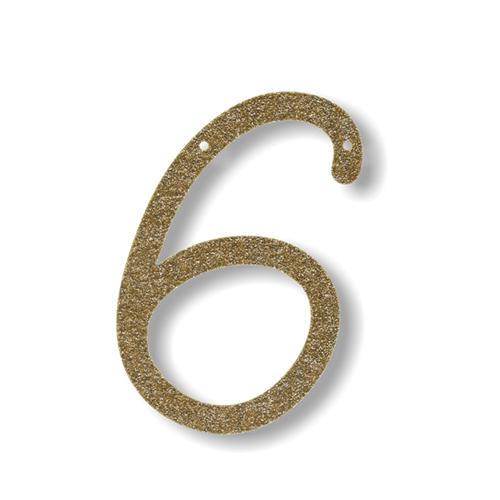 Акриловая подвеска для растяжки 6, мерцающее золото